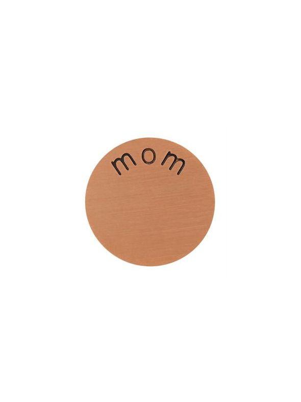 'Mom' Mini Rose Gold Coin