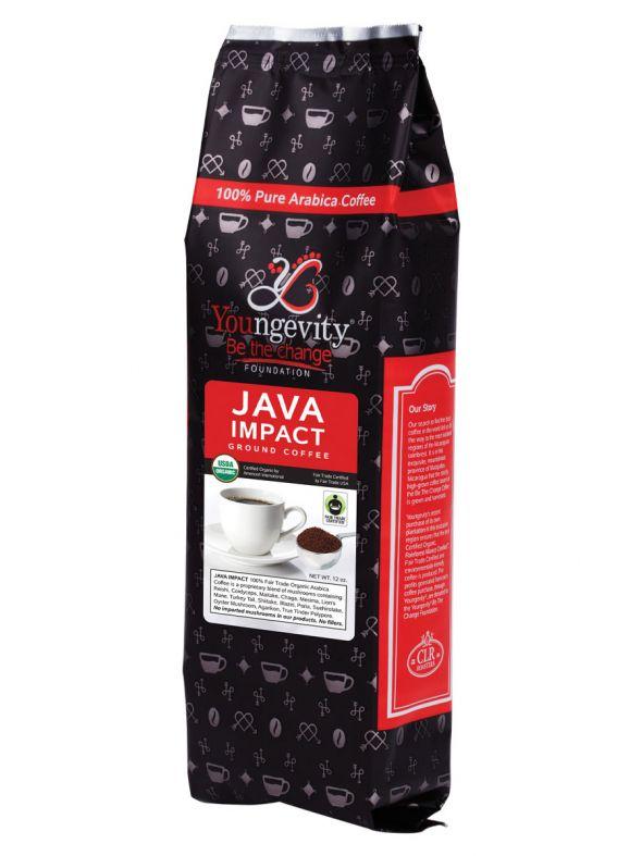 Be The Change Coffee - Java Impact Fair Trade Organic Coffee w/Mushrooms - Ground (12oz)